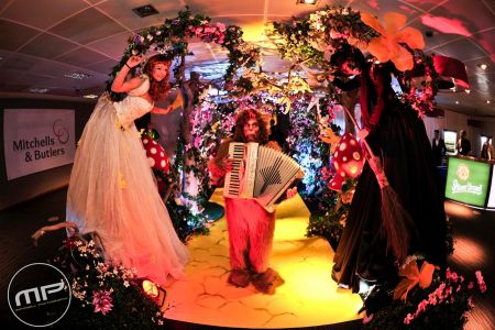Wizard of Oz themed installation arch