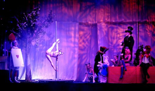 alice in wonderland pole dancer