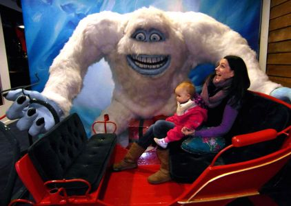 Christmas Yeti Snow Dome Tamworth