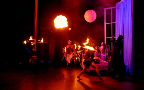circus fire show