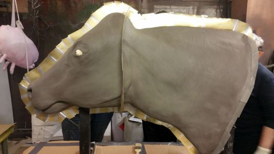 Cow Prop Being Made