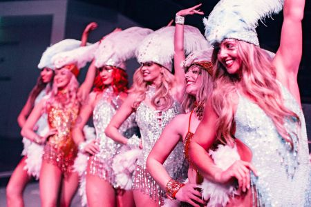 dancing girls feathers