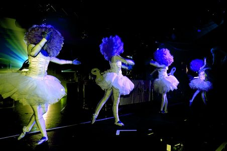 Dancing Ballerinas On Stage