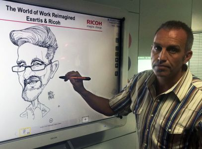 digital whiteboard caricatures