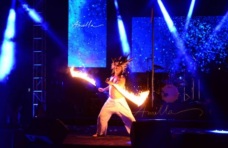 Fire Performer Maldives 2017
