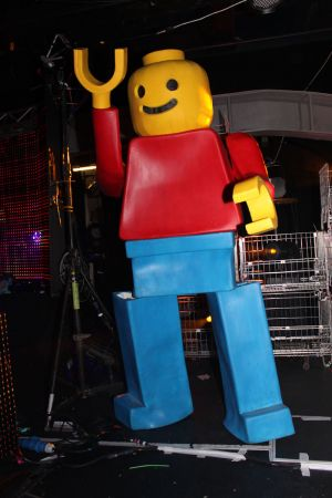 Giant Lego Man Dancer