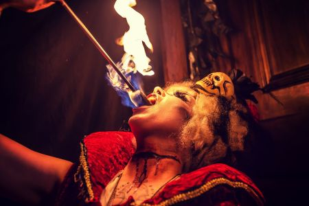 Horror Fire Performer