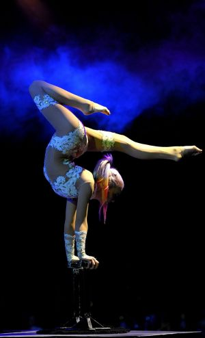 Ice Themed Contortion Act