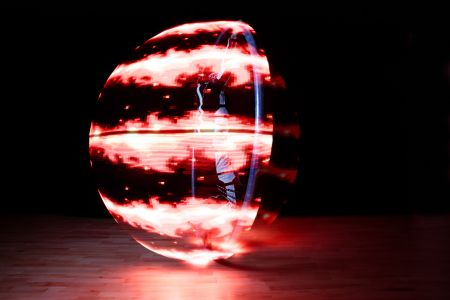 led cyr wheel performer