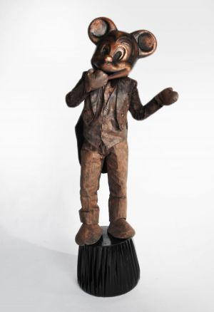micky mouse living statue