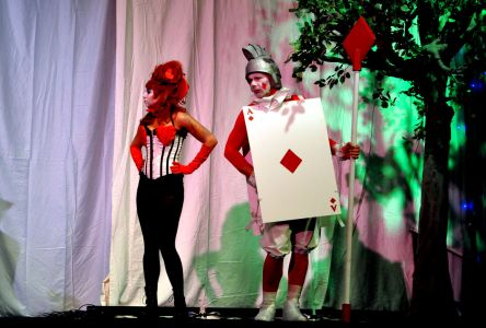 queen of hearts and guard