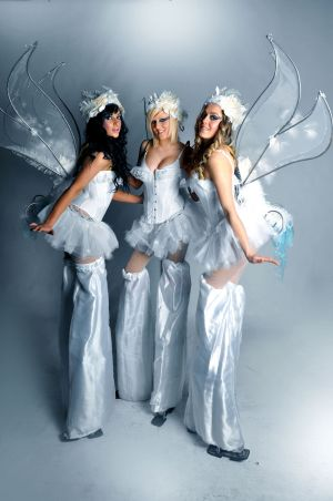Snow Angel Stilt Walkers