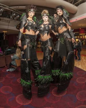 Warrior Elven Girls Stilt Walkers