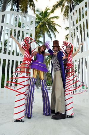 Wonka Stilts Walkers