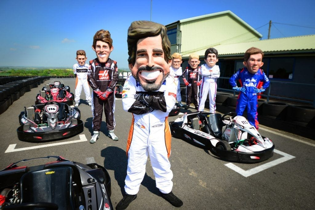 f1 driver caricatures