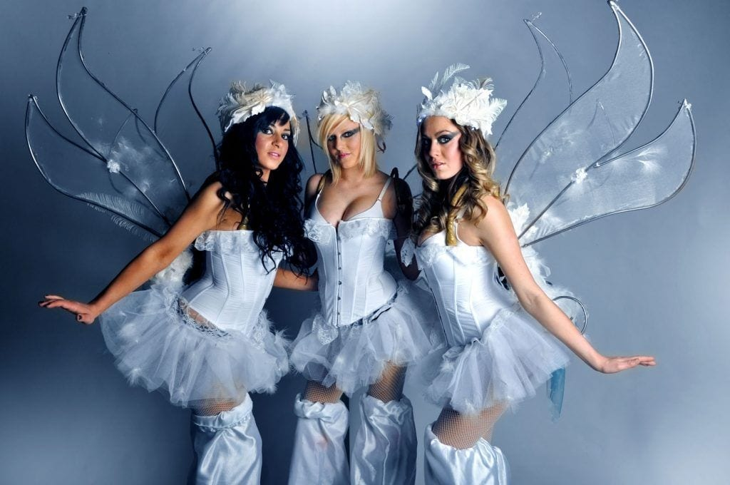 xmas fairy stilt walkers